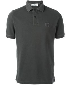 Stone Island | Logo Patch Polo Shirt Small Cotton