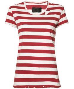 RTA | Striped Distressed Detail T-Shirt