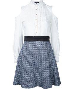 LOVELESS | Комбинированное Платье С Открытыми Плечами