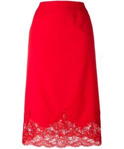 Ermanno Scervino | Lace Hem Skirt 42 Polyester/Spandex/Elastane