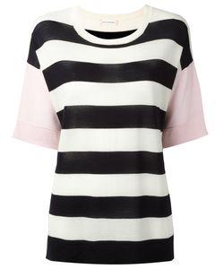 Chinti And Parker | Striped Knit T-Shirt Medium Merino