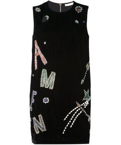 Amen   Бархатное Платье С Логотипом
