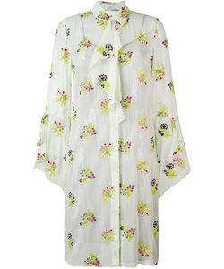Marco De Vincenzo | Платье-Рубашка С Цветочным Принтом