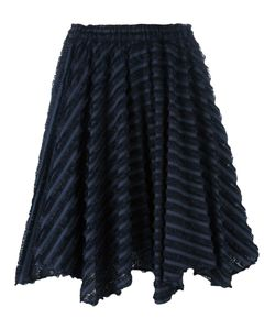 Julien David | Striped Frayed Skirt