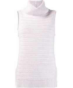 LEO & SAGE | Roll Neck Sleeveless Knitted Top