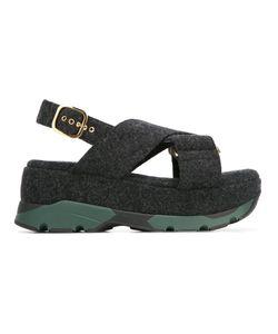 Marni | Platform Felt Sandals