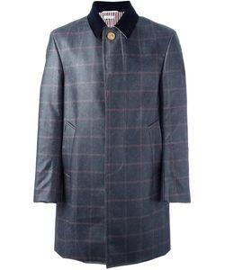 Thom Browne | Клетчатое Пальто С Контрастным Воротником