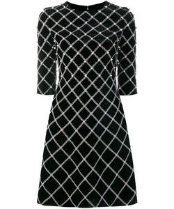 Huishan Zhang | Pearl Embellished Lattice Dress