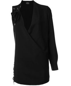 Anthony Vaccarello | One Sleeve Lace-Up Dress
