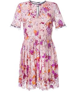MSGM | Кружевное Платье С Растительным Принтом
