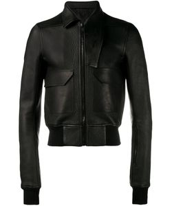 Rick Owens | Asymmetric Collar Leather Jacket