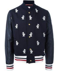 Moncler Gamme Bleu | Куртка-Бомбер С Вышивкой Уток
