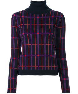 Carven | Пуловер С Отворотной Горловиной В Клетку