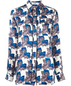 MSGM | Пижамная Рубашка С Узором