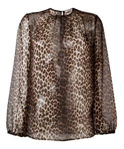 P.A.R.O.S.H. | Полупрозрачная Блузка С Леопардовым Принтом