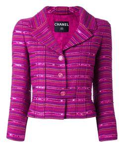 Chanel Vintage | Полосатый Пиджак С Пайетками