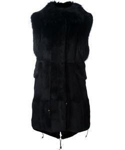 Furs66 | Пуховая Жилетка С Меховой Отделкой