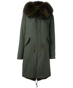 Furs66 | Пальто С Панельным Дизайном И Меховой Отделкой