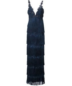 Marchesa Notte | Fringed Gown