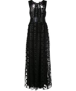 Marchesa Notte | Embellished Sheer Panel Gown