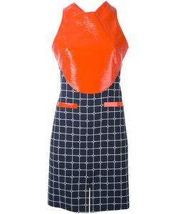 Courreges | Платье С Контрастной Панелью И Узором В Клетку