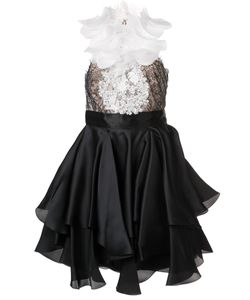 Marchesa | Декорированное Платье С Рюшами
