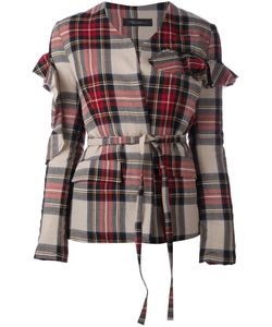 AREA DI BARBARA BOLOGNA | Куртка В Клетку С Оборками На Рукавах