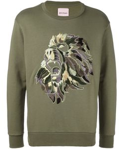 PALM ANGELS | Embroidered Lion Sweatshirt