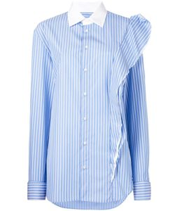 Maison Margiela   Striped Ruffle Detail Shirt
