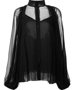 Vera Wang | Mandarin Collar Blouse