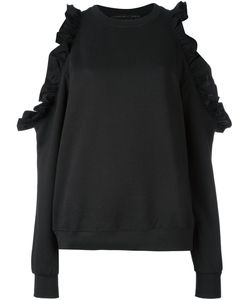 VICTORIA/TOMAS | Off Shoulder Ruffled Sweatshirt
