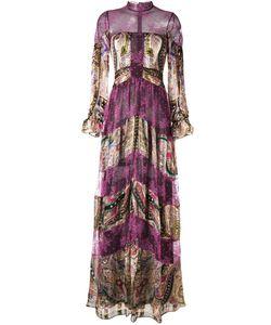Etro   Полосатое Кружевное Платье С Узором Пейсли