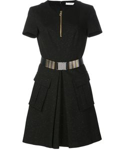 Versace Collection | Zipped Round Neck Dress