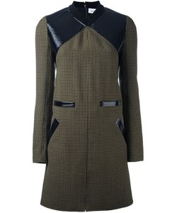 Courreges | Твидовое Платье Шифт С Контрастной Панелью