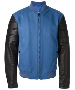 Versace Collection | Contrasted Sleeve Bomber Jacket