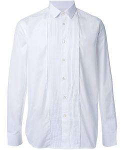 Saint Laurent | Рубашка С Плиссированной Панелью