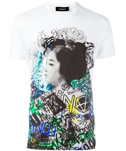 Dsquared2 | Graffiti Geisha Print T-Shirt