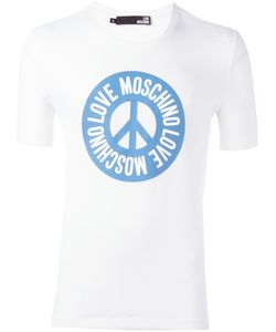 Love Moschino | Peace Logo Print T-Shirt
