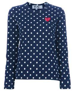 Comme des Gar ons Play | Comme Des Garçons Play Embroidered Heart Polka Dot T-Shirt