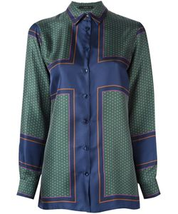 Etro | Атласная Рубашка С Принтом