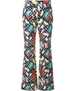 ROSSELLA JARDINI | Brush Stroke Print Trousers