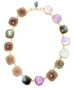 RAM | 18kt Amethyst Aquamarine Labradorite And Smoky Quartz Necklace