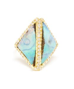 KIMBERLY MCDONALD | Opal And Diamond Boulder Ring