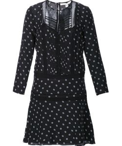 Veronica Beard | Semi Sheer Dotted Print Dress