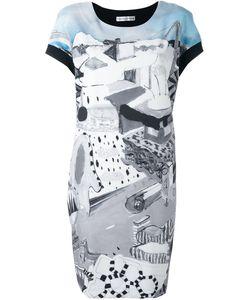 Tsumori Chisato | Платье С Рисунком И Контрастной Спинкой