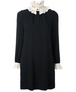 Saint Laurent | Двухцветное Короткое Платье