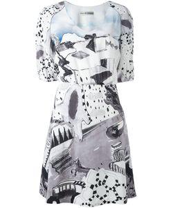 Tsumori Chisato | Платье С Рисунком И Рукавами-Баллон