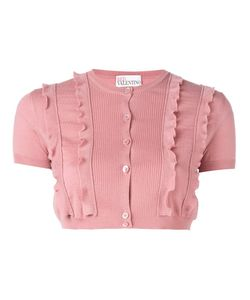 Red Valentino | Ruffle Trim Cropped Cardigan