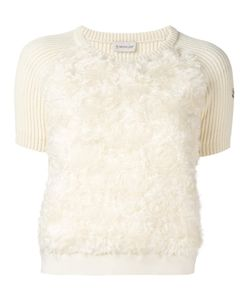 Moncler | Textured Front Panel Knit Top