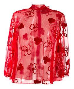 Simone Rocha | Прозрачная Блузка С Цветочным Узором